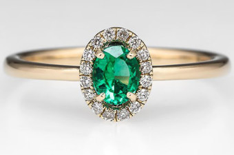 Crystal-Encrusted-Emerald-Halo-Engagement-Ring