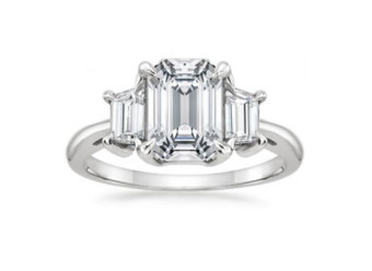 18K White Gold Embrace Moissanite Ring