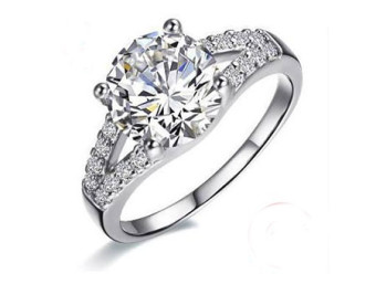 Twin Channel Engagement Ring