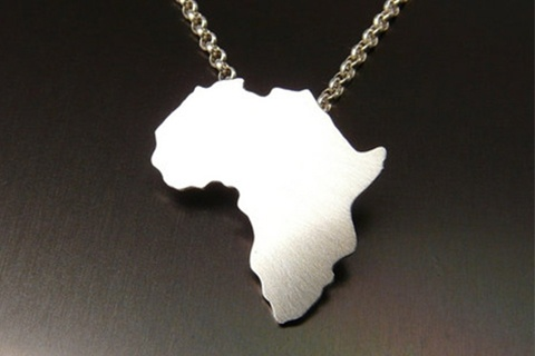Silver africa pendant 100 handcrafted malawi gems silver africa pendant aloadofball Images